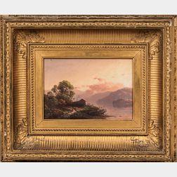 William Sheridan Young (Ohio/Illinois, d. 1870)      White Mountain Landscape