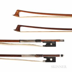 Two Silver-mounted Violin Bows