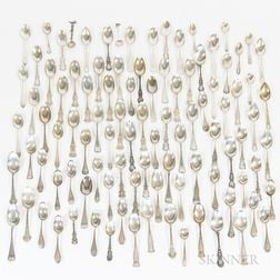 Group of Sterling Silver and Coin Silver Spoons