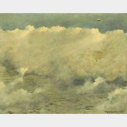 Eric Sloane (American, 1905-1985)  Westward Ho!, Cumulus Banks