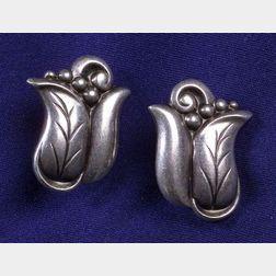 Sterling Silver Earclips, La Paglia