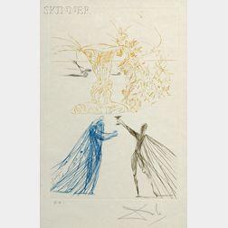 Salvador Dalí (Spanish, 1904-1989)      Frontispiece   for TRISTAN ET ISEULT