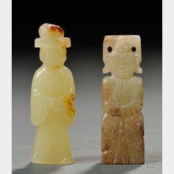 Two Jade Figures