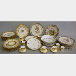 Forty-five Pieces of Porcelain and Pottery Tableware