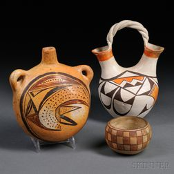 Three Southwest Painted Pottery Items