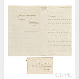 Lescallier, Baron Daniel (1743-1822) Coded Letter, Signed, New York, 19 November 1812.