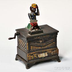 Painted Cast Iron Organ Mechanical Bank