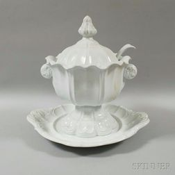 T.R. Boote Ironstone Covered Tureen, Ladle, and Undertray