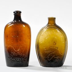 Two Mold-blown Flasks