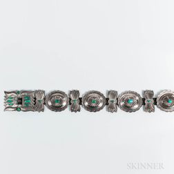 Navajo Silver and Turquoise Concha Belt