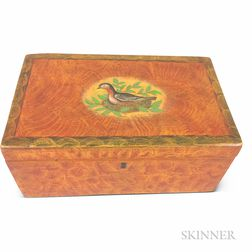 Putty-painted Pine Document Box
