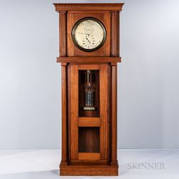 C.R. Railroad Mahogany Astronomical Floor Regulator