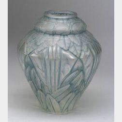 Hunebelle Molded Art Glass Vase