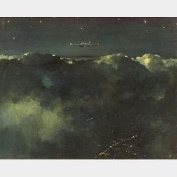 Eric Sloane (American, 1905-1985)  Night Scene