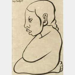 Diego Rivera (Mexican, 1886-1957)  Seated Girl