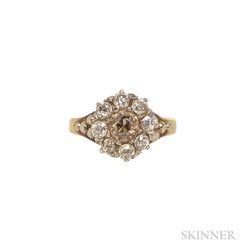Antique Colored Diamond Ring