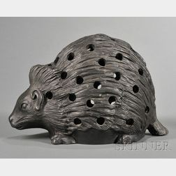 Wedgwood Black Basalt Hedgehog Crocus Pot