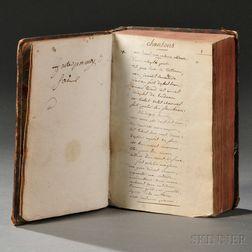 Manuscript, Recueil de Chansons  , 18th Century.