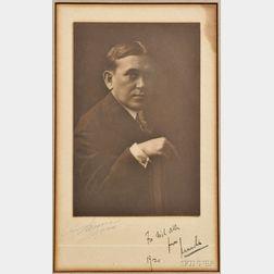 Mencken, Henry Louis (1880-1956) Signed Photo, 1920.