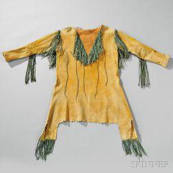 Kiowa Man's Painted Hide Shirt