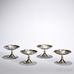 Four Sterling Silver Stem Dishes
