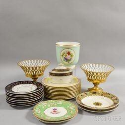 Twenty-six Pieces of Assorted Porcelain Tableware