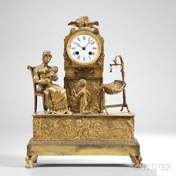 """Earl of Bordeaux"" Gilt Shelf Clock"