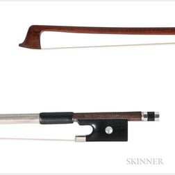 French Silver-mounted Violin Bow, Marie Louis Piernot, c. 1920
