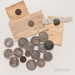 Nineteen Mostly Continental Coins