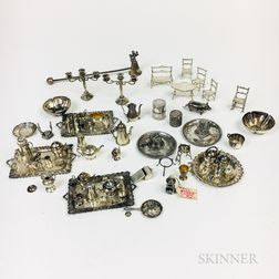 Group of Silver Miniatures