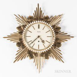 Junghans Starburst Brass Wall Clock
