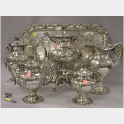 Six-Piece Silver Plated Tea Service