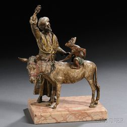 Austrian Cold-painted Bronze Figural Group