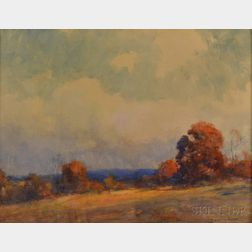 Clarence Scott White (American, 1872-1965)      Autumn Landscape