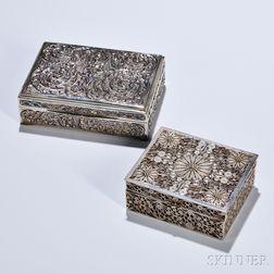 Two Silverwork Boxes