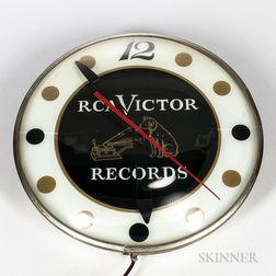 RCA Victor Records Electric Wall Clock, 1956