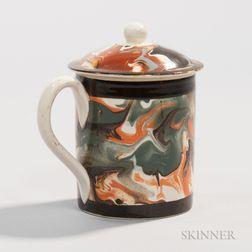 Pearlware Half-pint Mug with Cover