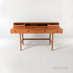 Jens Quistgaard (1918-2008) Teak Desk for Lovig Dansk and Chair