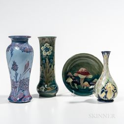 Four Moorcroft Pottery Items