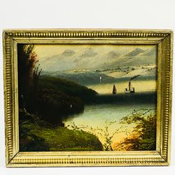 Small Framed Hudson River School Landscape
