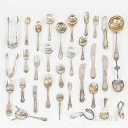 Group of Sterling Silver and Continental Silver Flatware