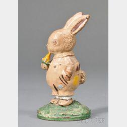 Painted Cast Iron Peter Rabbit Doorstop