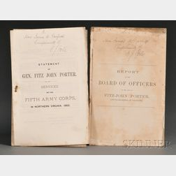 Porter, Fitz-John (1822-1901) and Garfield, James (1831-1881), Association Copies