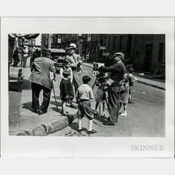 Walker Evans (American, 1903-1975)       Street Photographer with Children, Bleecker Street, New York City