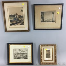 Seven Framed Works