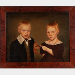 Milton Hopkins (New York/Connecticut/Ohio, 1789-1844)      Portrait of Rachel and Reason Hand of Wooster, Ohio, 1838