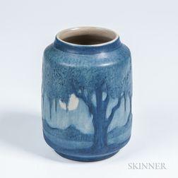 Anna Frances Simpson (1880-1930) Newcomb College Landscape Vase