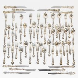 "International Sterling ""DuBarry"" Partial Sterling Silver Flatware Service"