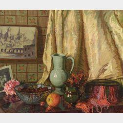 William Samuel Horton (American, 1865-1936)  Still Life, Spain