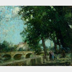William Lee Hankey (British, 1869-1952)    La Seine